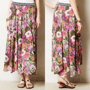 Anthropologie Maeve Butterfly/Tiger Maxi Skirt